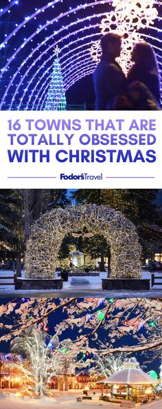 Some towns kick it up a notch (or three) when it comes to heralding the Christmas season. Christmas Place, Christmas Events, Christmas Town, Christmas Travel, Christmas Vacation, Christmas Markets, Xmas, Christmas Ideas, Holiday Travel