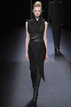 Another Way to Look at the Little Black Dress . . . from HAIDER ACKERMANN FALL 2010 RTW OLGA SHERER