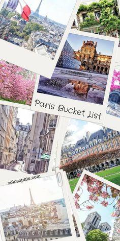 paris bucket list
