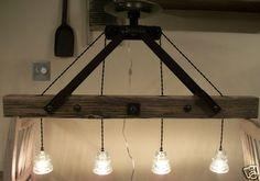 Original Lineman Telegraph Glass Insulator Kitchen Island Pool Table Chandelier | eBay