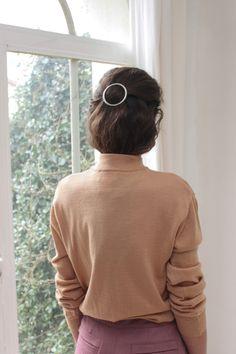 Image of Camel mock neck jumper