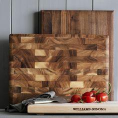 Williams-Sonoma End-Grain Cutting Board, Walnut #williamssonoma                                                                                                                                                                                 More