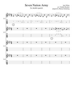 white stripes 39 seven nation army 39 sheet music notes chords in 2019 guitar seven nation. Black Bedroom Furniture Sets. Home Design Ideas