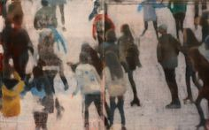 Philip Buller, Small Crowd On Ice, 2016, Julie Nester Gallery