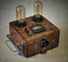 Lampe Steampunk, Steampunk Gears, Steampunk Design, Steampunk Fashion, Steampunk Gadgets, Edison Lampe, Steampunk Furniture, Steampunk Accessories, Industrial Lighting
