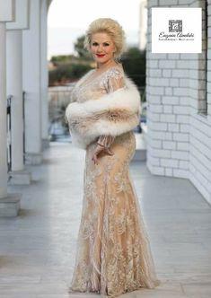Haute couture dress -Αμπιγέ γοργονε φόρεμα με  δαντέλα και γκλιτερ. #eugeniaainalaki #handmade #hautecouture #tailormade #promdress #greekdesigners #dress Haute Couture Dresses, Fur Coat, Jackets, Fashion, Down Jackets, Moda, Couture Dresses, Fashion Styles, Fashion Illustrations