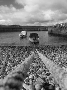 Boats in harbour Scotland 11.7x16.5in Black and by Moodlandscapes, £20.00