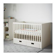 STUVA Crib with drawers - IKEA  Cot with storage underneath