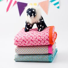 Baby blankets by Sunday in Color -- in love with these color combos