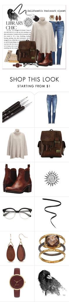 """Library Chic: Art & Lit Finals"" by stacypark86 on Polyvore featuring AG Adriano Goldschmied, Joseph, Loungefly, Frye, Smith & Cult, Kim Rogers, Olive & Ivy and Nine West"
