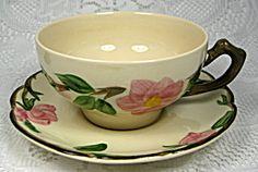 Vintage Franciscan Ware Desert Rose Cup and Saucer USA