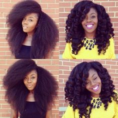 This is cute believe its crochet braids with marley hair must of did a twist out