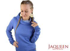 Hoodies - Hoodie uni blau meliert - ein Designerstück von JAQUEEN-handmade-streetwear-berlin bei DaWanda