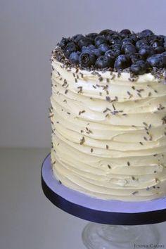 Blueberry, Lavender and White Chocolate Cake recipe