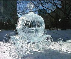 Ice sculpture at Fairbanks Ice Festival, Alaska Cinderella Carriage, Princess Carriage, Cinderella Coach, Cinderella Disney, Cinderella Wedding, Princess Wedding, Pumpkin Carriage, Alaska Winter, Winter Snow
