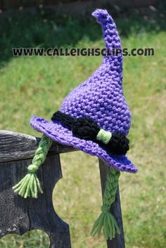 Instant Download Crochet Pattern No. 65 Crafty Witch Hat and