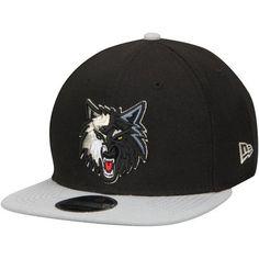 Men s New Era Black Gray Minnesota Timberwolves 2-Tone Original Fit 9FIFTY  Adjustable Snapback Hat 9d57deab44a1
