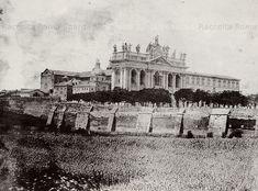 Foto storiche di Roma - Basilica San Giovanni in Laterano vista da fuori le Mura Anno: 1880 ca.