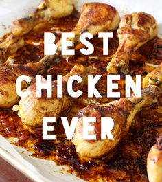 This easy weeknight Paleo chicken drumstick recipe is easily the best baked chicken recipe I've ever tried! I'm obsessed! OK, I'm not doing Paleo because in my experience when I… Best Baked Chicken Recipe, Baked Chicken Legs, Best Chicken Drumstick Recipe, Chicken Leg Recipes Easy, Easy Chicken Drumstick Recipes, Chicken Recepies, Paleo Whole 30, Whole 30 Recipes, Whole Food Recipes
