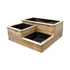 Gardening – Gardening Ideas, Tips & Techniques Wooden Planters, Wooden Garden, Planter Boxes, Cerca Diy, Vegetable Garden Tips, Porch Flooring, Flower Boxes, Flowers, Garden Beds