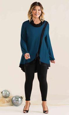 Traverse Cowl Tunic / MiB Plus Size Fashion for Women / Winter Fashion / http://www.makingitbig.com/product/5040