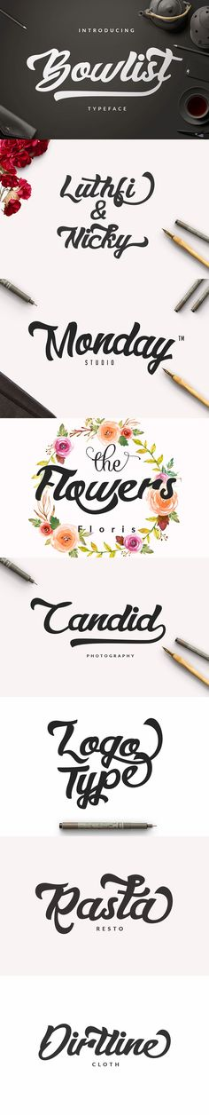 Bowlist  Logo Type #painting #handwriting Download : https://graphicriver.net/item/bowlist-logo-type-/13124226?ref=pxcr