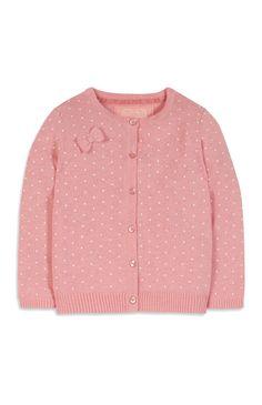 Primark - Roze vest met strikjes