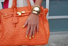 You should see my new orange hand bag...!  It's my new favorite.