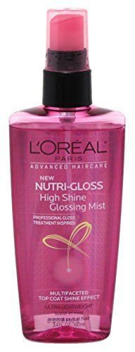 Loreal Nutri-Gloss Shine Mist 3.4oz Pump L'Oreal Paris  My favorite thing to spray on my styled hair!