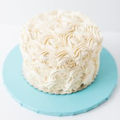 Amy's Cupcake Shoppe | Ashley Elwill Photography | gorgeous one tier cake