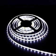 www.facebook.com/hzqihuangco MADKING LED Flexible Strip Light DC12V 60LEDs/m,  Waterproof IP65, White Light Color, 5M/Roll. Led Light Strips, Led Strip, Led Flexible Strip, Strip Lighting, White Light, Bulbs, Light Colors, Facebook, Lightbulbs