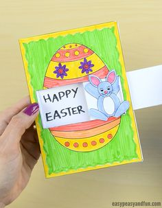 Hidden Message Easter Card Craft for Kids