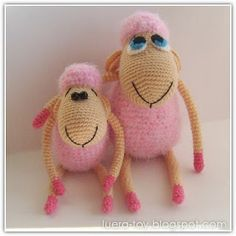 Cute lambs - the free crochet pattern is written in Russian but maybe google translate will help to understand.