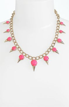 Cara Accessories Collar Necklace available at #Nordstrom - How very cute!! PINK ice cream necklace :)
