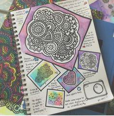 🌼Arte puro y verdadero🌼 -Angie- Zantangle Art, Zen Art, Doodle Techniques, Mandalas Drawing, Zentangles, Dibujos Zentangle Art, Plan Image, Mandala Art Lesson, Bullet Journal Art