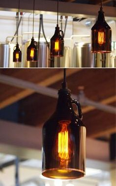 growler lights or lights made with amber glass