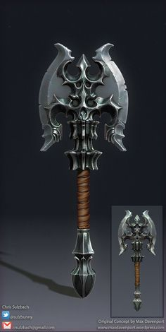 Fantasy Axe, Chris Sulzbach on ArtStation at http://www.artstation.com/artwork/fantasy-axe-8c9a6703-6d5b-4c47-a3de-9c9ef25435e5