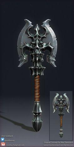 Fantasy Axe, Chris Sulzbach on ArtStation at http://www.artstation.com/artwork/fantasy-axe-8c9a6703-6d5b-4c47-a3de-9c9ef25435e5