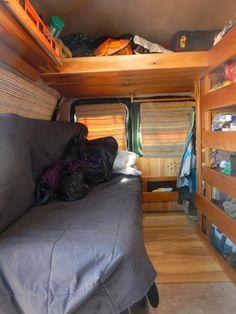 Excellent custom van on CheapRVLiving blog: http://www.cheaprvliving.com/blog/andrews-craftsman-van-conversion/