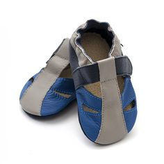 Baby Sandals, Baby Shoes, Huaraches, Barefoot, Leather Sandals, Soft Leather, Blue, Fashion, Moda