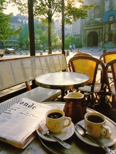 Find images and videos about coffee, paris and morning on We Heart It - the app to get lost in what you love. Coffee Break, Coffee Time, Morning Coffee, Beautiful Paris, Paris Cafe, Coffee Photography, Coffee And Books, France, Outdoor Furniture Sets