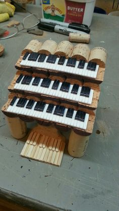 Wine Cork Three Keyboard Organ