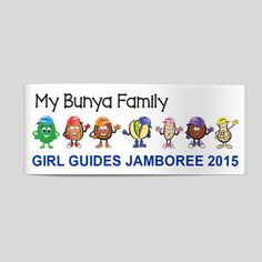 GBG My Bunya Family Car Sticker
