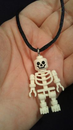 Skeleton Lego Necklace by MortemsMorgue on Etsy, $10.00
