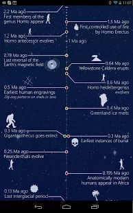 History of the Universe app