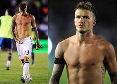 David Beckham Soccer Player   david beckham playing soccer shirtless. Soccer Players Can Do it For