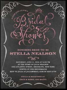 a52eb734673 Fanciful Script Shower Invitations (Rose) by Wedding Paper Divas Wedding  Shower Invitations