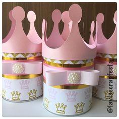 5,5cm x 3,5cm para princessparty 4er set coronitas-latas