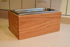 Wooden Compost Bin, Red Oak, Outdoor Furniture, Outdoor Decor, Storage, Handmade Gifts, Etsy, Home Decor, Purse Storage
