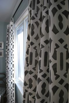 Stenciled Curtains-- Stunning!